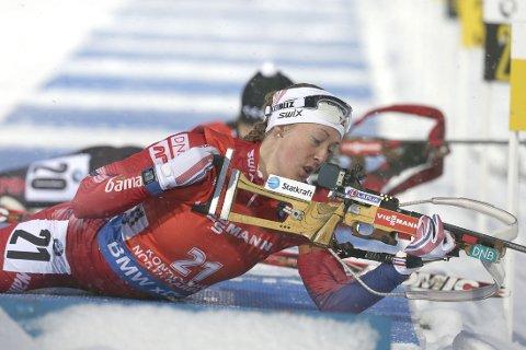 BOM-O-RAMA: Fanny Welle-Strand Horn slet i snøværet.
