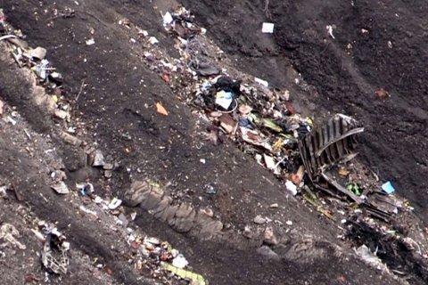 ULYKKESSTEDET: 150 mennesker var ombord i Germanwings-flyet, da det styrtet i de franske alpene.