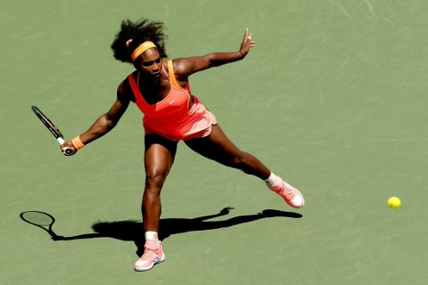 OVERLEGEN: Serena Williams tok sin åttende seier i WTA-turneringen i Miami på lørdag.