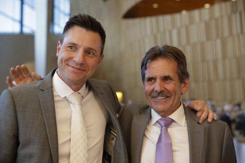 PRIS: Jan Erik Skog og Robin Schaefer under prisutdelingen i Den norske Opera torsdag kveld.