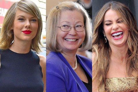 VERDENS MEKTIGSTE: Taylor Swift, Kaci Kullman Five og Sofia Vergara har en felles faktor - makt - mener Forbes Magazine.