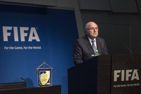 TREKKER SEG: Sepp Blatter.
