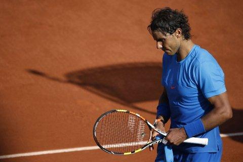 SLÅTT UT: Gruskonge Rafael Nadal.