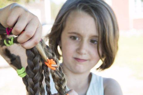 DEILIG: Towa Larsson syntes det var fint å bli kvitt alt håret. Det var bare i veien likevel. Foto: Julia Östlund