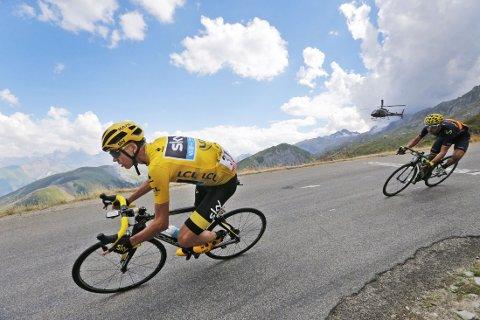 SAMMENLAGTSEIER: Chris Froome holdt unna, og tok sammenlagtseieren i Tour de France.
