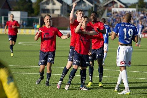VANT: Viking feirer sin scoring mot Sarpsborg 08.