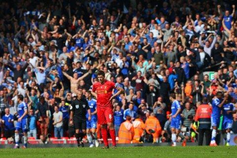 GLIPP: Steven Gerrard og Liverpool skulle ikke miste ligagullet i 2013-14-sesongen. Mot Chelsea var det akkurat det som skjedde.