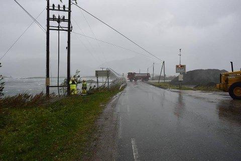 Fra Bogøy tirsdag under stormen.