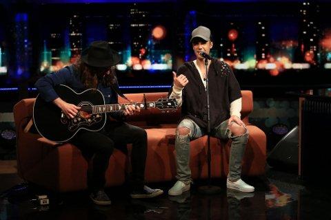 Justin Bieber gjester torsdag kveld «Senkveld med Thomas og Harald».
