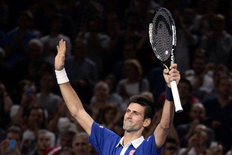 KLAR FOR SEMI: Verdensener Novak Djokovic er klar for semifinalen i Paris Masters.