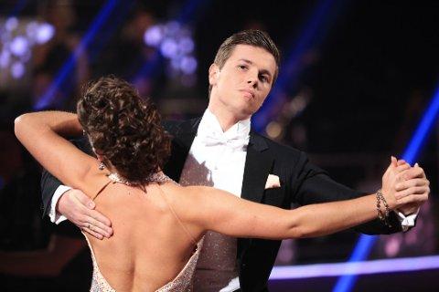 UTE: Samuel Massie er ute av Skal vi danse. Foto: TV 2