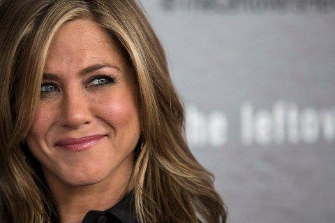RØRT: Jennifer Aniston ble rørt til tårer da hun fikk spørsmål fra en tenåringsjente om hun noen gang følte at hun ikke visste hvem hun var.