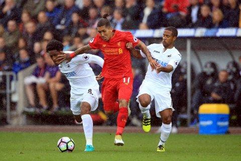 GOD: Roberto Firmino var et av lyspunktene for Liverpool.