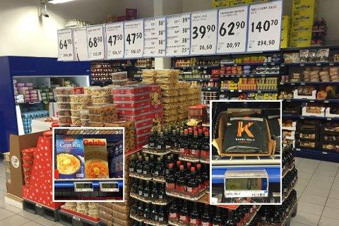 JULEPRISKRIG: På Rema 1000 Torshov har de allerede satt ned prisene på en rekke julevarer. - Vi vil jo være billigst, sier butikksjef Maiken Holberg.