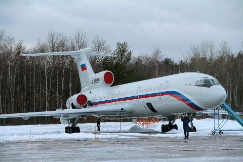 STYRTET: Et fly av typen Tupolev Tu-154 styrtet like etter avgang.