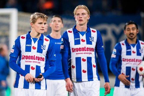 NEDERLAG IGJEN: Martin Ødegaard (til venstre) og Morten Thorsby måtte tåle tap nummer tre på rappen i den nederlandske æresdivisjonen.