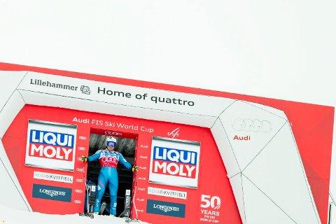 KRITIKK: Kjetil Jansrud ved start under søndagens super G-renn i Kvitfjell. Arrangementet fikk sterk kritikk fra FIS før helgens tre renn.