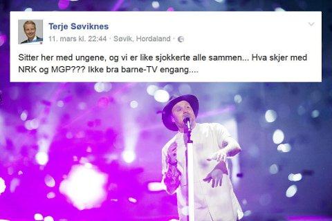 VINNERNE: Jowst vant finalen i Melodi Grand Prix lørdag kveld. Statsråd Terje Søviknes slaktet MGP på Facebook lørdag kveld.