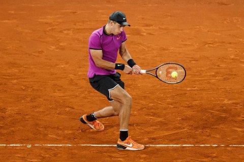 SLO STJERNEN: Borna Coric fra Kroatia overrasket alle ved å slå skotten Andy Murray i tredje runde av Madrid Masters.