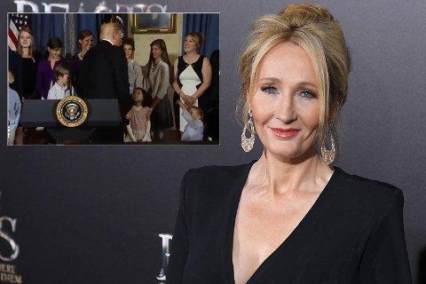 J.K. Rowling beklager til gutten og hans familie, men henvender seg ikke til Donald Trump.