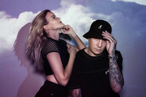 Sandra Lyng og OnklP er aktuell med låten Fall sammen.