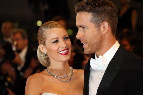 Ryan Reynolds og Blake Lively på rød løper under visningen av Captives på filmfestivalen i Cannes i 2014.
