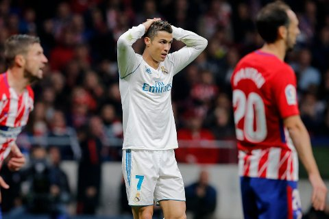 FRUSTRERENDE: Real Madrid og Cristiano Ronaldo fikk ikke uttelling mot Atlético Madrid. Det gjorde ikke byrivalen heller.