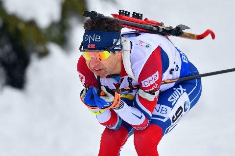 OVERRKASKENDE TRIUMF: Ole Einar Bjørndalen og Norge var helt suverene på søndagens stafett.