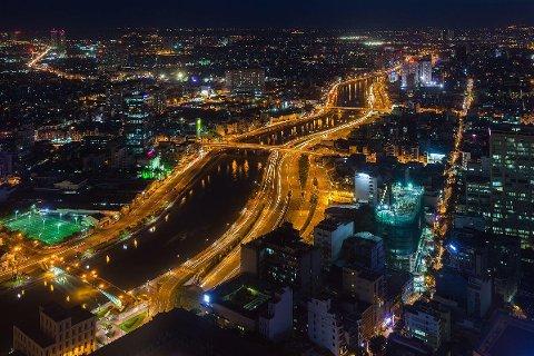 Korrupsjonssaken er en av de største og mest omtalte i Vietnam de siste årene. Illustrasjonsfoto: Utsikt over Ho Chi Minh City fra toppen av Bitexco Financial Tower (bildet er tatt i august 2013).