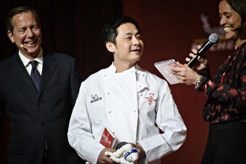 SJERNEKOKK: Den svensk-norske kokken Bjørn Svensson har tre ganger oppnådd å få en stjerne i Michelin-guiden. Glad og overrasket, oppsummerte han etter tildelingen i København.