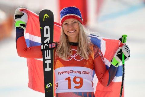 SØLV: Ragnhild Mowinckel sikret seg en overraskende sølvmedalje i OL-utforen.