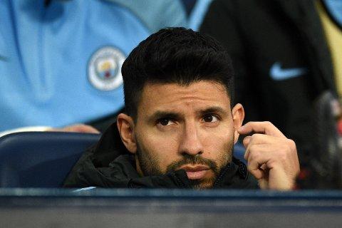 UTE MOT LIVERPOOL: Manchester Citys Sergio Agüero.