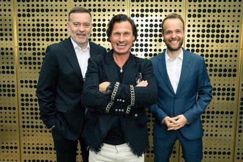 NYTT PR-BYRÅ: Petter Stordalen etablerer et nytt PR-byrå, Storm Communications, sammen med Jan-Erik Larsen (t.v) og Marius Parmann, som skal lede byrået.