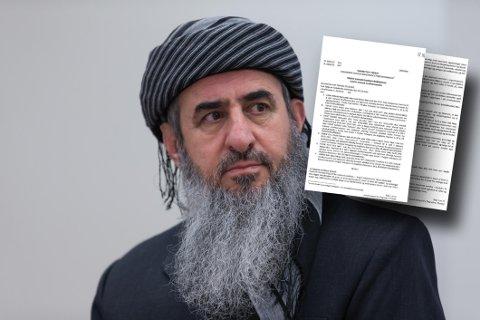 Krekar er tiltalt for terrorvirksomhet i Italia. Tiltalebeslutningen, som Nettavisen har fått tilgang til, er på 14 sider (arkivfoto og faksimile).