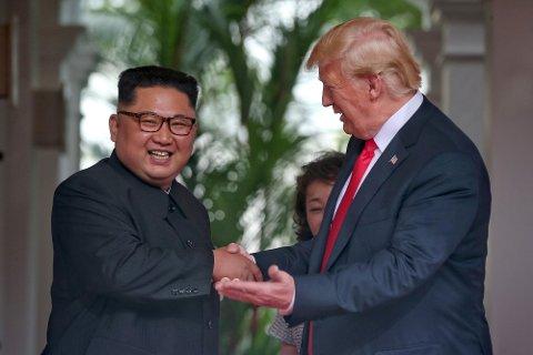 USAs president Donald Trump møter Nord-Koreas leder Kim Jong-un i Singapore tirsdag 12. juni.