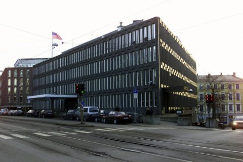 USAs tidligere ambassade i daværende Drammensveien. Foto: Cornelius Poppe / NTB scanpix.