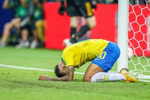 UTE: Neymar og Brasil er ute av VM etter 1-2-tapet for Belgia i kvartfinalen.