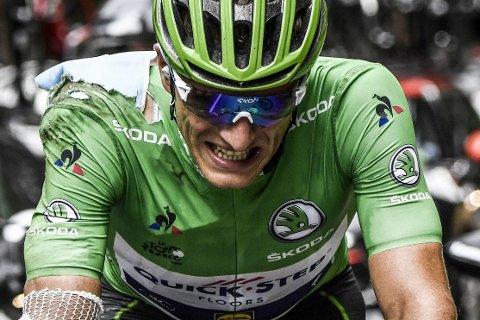 INGENTING STEMMER: Marcel Kittel lå an til den grønne poengtrøya under fjorårets utgave av Tour de France, før han trakk seg etter en velt på den 17. etappen. I år har ikke tyskeren fått noen ting til å stemme.