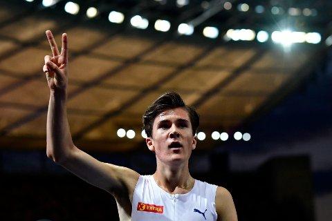 SATSES PÅ: Jakob Ingebrigtsen tok en vanvittig EM-dobbel i Berlin sist uke. Nå lover toppidrettssjef Håvard Tjørhom at 17-åringen er en av dem som blir satset på frem mot OL i Tokyo i 2020.