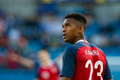 ERSTATTER SØRLOTH: Ola Kamara, her i aksjon for Norge i landskampen mot Panama, er tilbake i landslagsvarmen.
