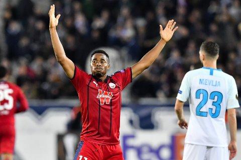 Bordeaux og Francois Kamano har ikke fått det til å stemme offensivt denne sesongen. (Photo by NICOLAS TUCAT / AFP)