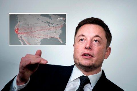 VERSTING: Tesla-gründer Elon Musk har gått krast ut i kampen for miljøet, men er selv en desidert versting i bruken av privatfly.