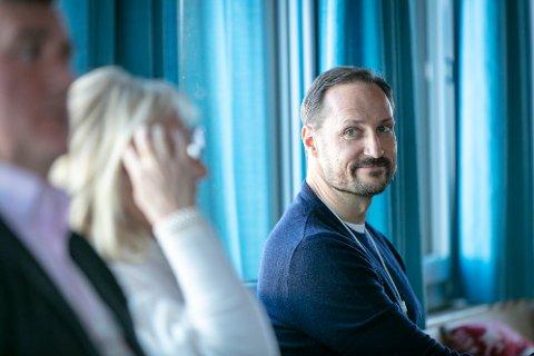 Kronprins Haakon avbildet under et seminar på økonomikonferansen i Davos i januar 2019.