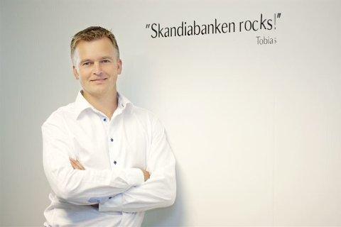 """Sbanken """"rocks"""", i hvert fall på forbrukslån. Her representert ved banksjef Magnar Øyhovden,"""