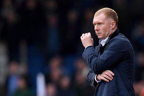 GIKK IKKE VEIEN: Paul Scholes vant bare én av sju kamper som manager for OLdham.