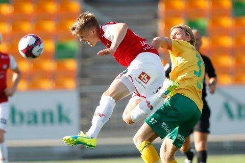 Bryne og Andreas Jacobsen har en tøff bortekamp mot Nardo torsdag. Jærbuene har ennå ikke vunnet på bortebane denne sesongen, og vi tror heller ikke at de får med seg poeng fra Trøndelag.