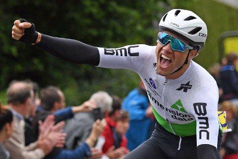 JUBELBRØL: Søndagens triumf i Frankrike var betydde utvilsomt mye for Edvald Boasson Hagen.