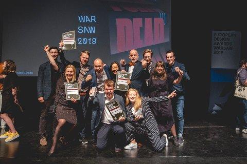 VINNERE: Det norske branding-byrået Kind ble kåret til årets byrå 2019 i European Design Awards i Polen lørdag 8. juni.