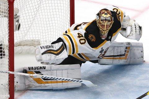 MATCHVINNER? Tuukka Rask blir viktig for Boston Bruins i nattens avgjørende finalekamp i NHL.