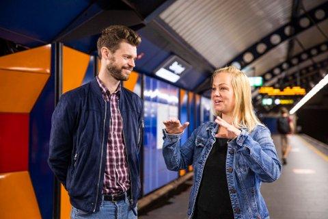ELLEVILLE LØFTER: Rødt-leder Bjørnar Moxnes og partiets førstekandidat i Oslo, Eivor Evenrud, lover gull og grønne skoger på veien til det kommunistiske samfunnet.